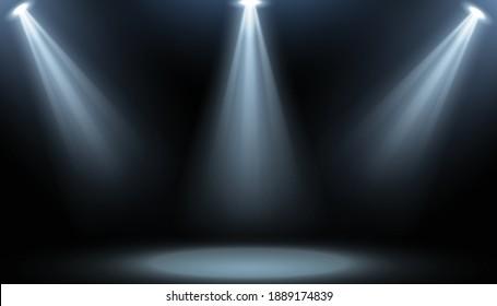 Room studio background with focus spotlight
