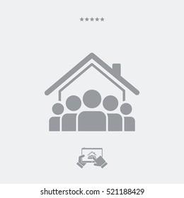 Roommates concept - Vector web icon