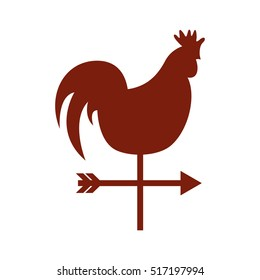 rooster air measure icon vector illustration design