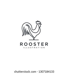 Rooster and arrow Logo Template vector illustration design