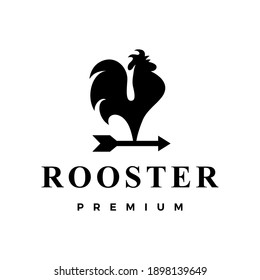 rooster arrow logo vector icon illustration