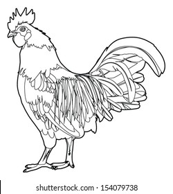 black and white rooster images stock photos vectors shutterstock