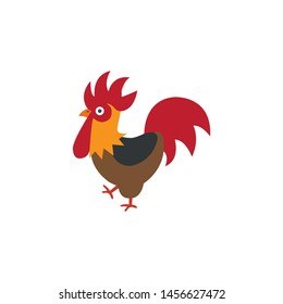 Rooster cartoon icon,vector on a white background