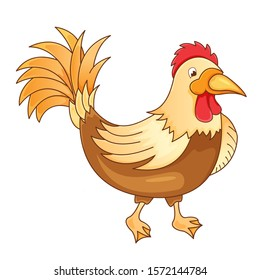 Rooster cartoon isolated on white background