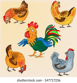 Rooster and Chicken