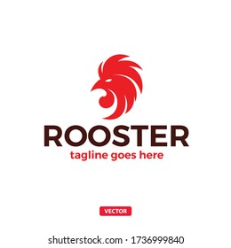Rooster Head Logo. Vector Rooster Chicken Logotype