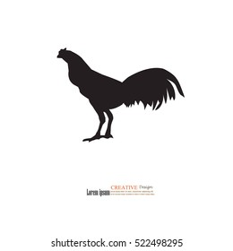 rooster icon.rooster.vector illustration.