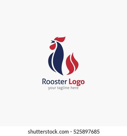 Rooster logo design template. Vector Illustration
