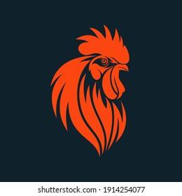 Rooster Logo Designs Template, Chicken Head Logo Designs