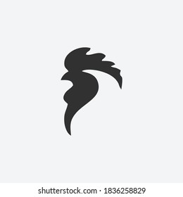 Rooster Logo template vector illustration design. Elegant drawing art rooster. Abstract rooster Logo template