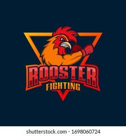 Rooster Mascot Esport Logo Design