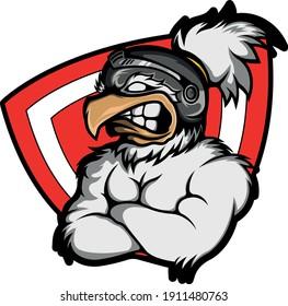 Rooster Mascot Gaming Logo Vector