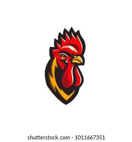 Rooster vector illustration mascot logo