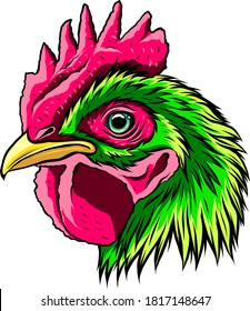 Rooster.a handdraw and sketch in vector illustration.