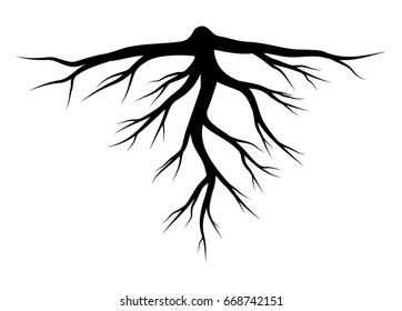 root silhouette vector symbol icon design. Beautiful illustration isolated on white background