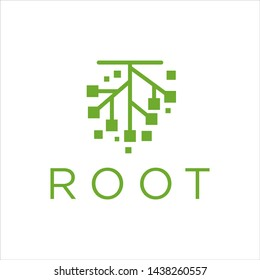 root system logo stock design