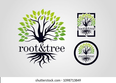 Root and Tree Logo Template