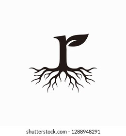 Roots letter R logo design inspiration - vector