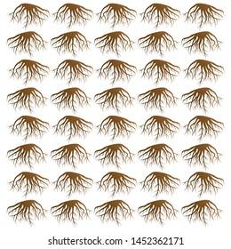 roots pattern design vector illustration