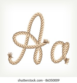 Rope alphabet. Letter A
