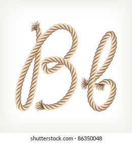 Rope alphabet. Letter B