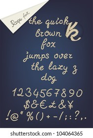 rope alphabet, numerals and signs