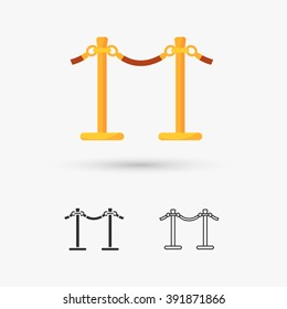 rope barrier icon