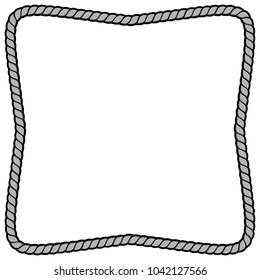 Rope Border Frame Illustration - A vector cartoon illustration of a couple of Rope Border Frame concept.