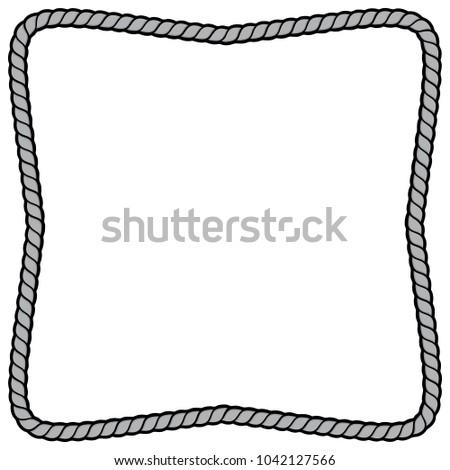 Rope Border Frame Illustration Vector Cartoon Stock Vector (Royalty ...
