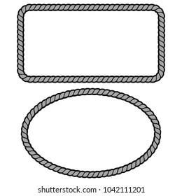 Rope Border Illustration - A vector cartoon illustration of a couple of Rope Border concepts.