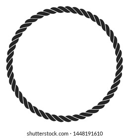 rope icon with a white background. vector illustration