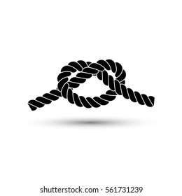 Rope knot, icon