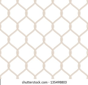 Rope Knot Seamless Pattern isolated on white background