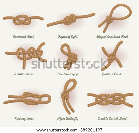 Rope Knots Set Illustration of