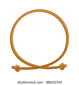Rope loop frame. cord circle with sites