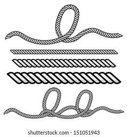 rope outline vector