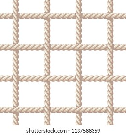 Rope pattern. Vector seamless pattern with rope net
