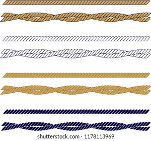 Ropes. Vector drawing related to maritime. The wall table can be used as ornament, label, gift, boat decoration, icon, key ring, rosette, brooch.