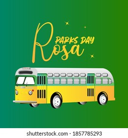 Rosa Parks day celebrations. vector Illustrations on Rosa.
