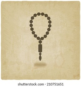 rosary old background - vector illustration. eps 10