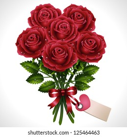 Rose bouquet- vector illustration.