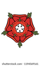 Rose and Crown Symbol