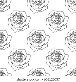 Rose drawing pattern