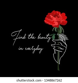rose flover lettering