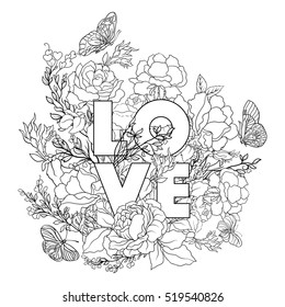 Adult Coloring Pages Words Images, Stock Photos & Vectors ...