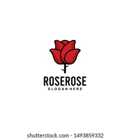 Rose Flower Logo Design Vector