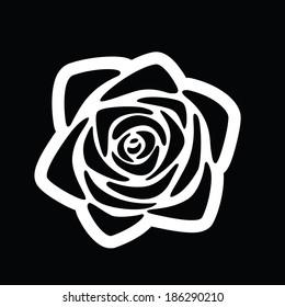 rose flower stylized graphic symbol