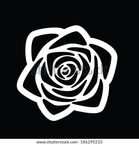 Rose Flower Stylized Graphic Symbol Stock Vector Royalty Free