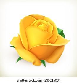 Rose flower, vector illustration