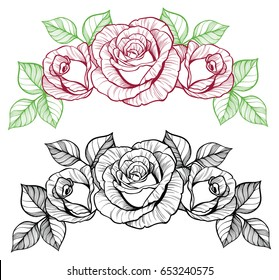 rose line drawing images stock photos vectors shutterstock rh shutterstock com rose line artwork rose line art images
